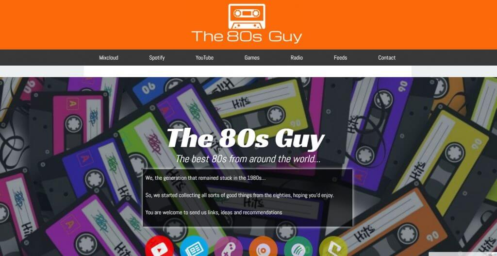 The 80s Guy site